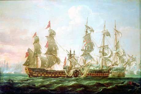 Batalla del Cabo de San Vicente (Portugal, 14 de Febrero 1797). Más en www.elgrancapitan.org/foro