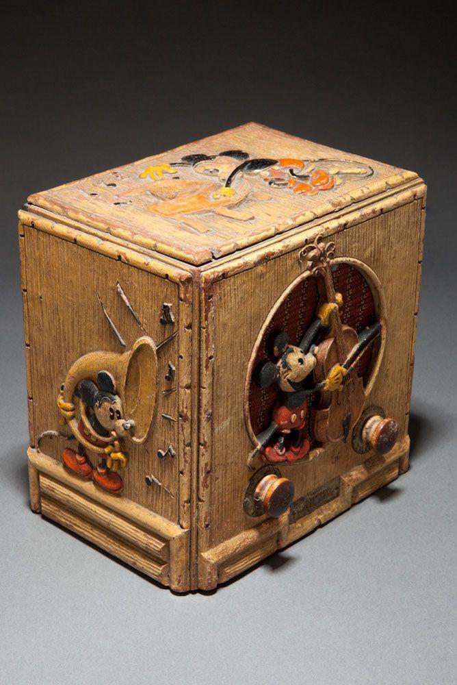 "Emerson Model 411 ""Mickey Mouse"" Radio, Rare Original Disney Painted Version"
