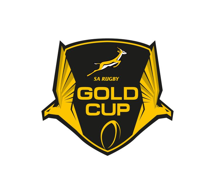 The Gold Cup International Rugby Tournament Bold, Colorful Logo Design by Garth Jones
