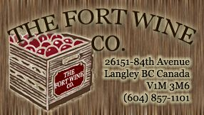Cranberry Fruit and Dessert Wines from The Fort Wine Co.Winery