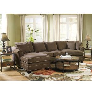 Our Favorite Dillon Sectional   Available In Soft Pine Or Chocolate With So  Many Options!