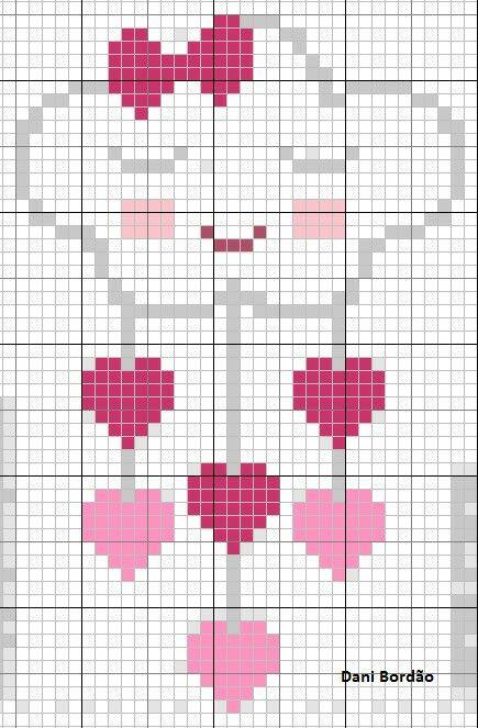 Baby heart cloud cross stitch.