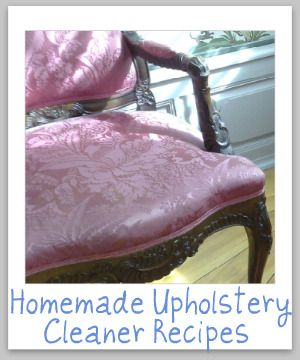 homemade upholstery cleaner- I use this every time I have company over to touch up my furniture and make it look newer.
