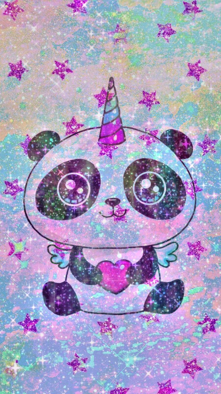 Purple Kawaii Pandicorn Made By Me Panda Kawaii Stars Galaxy