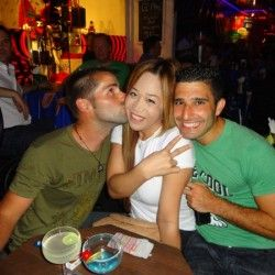 The adorable Nomadic Boys hang out with their Ladyboy friend Regina in Bangkok.