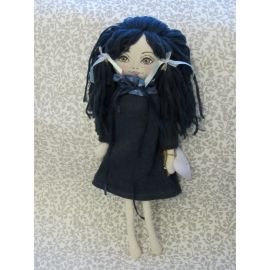 Blue Dress Fabric Doll