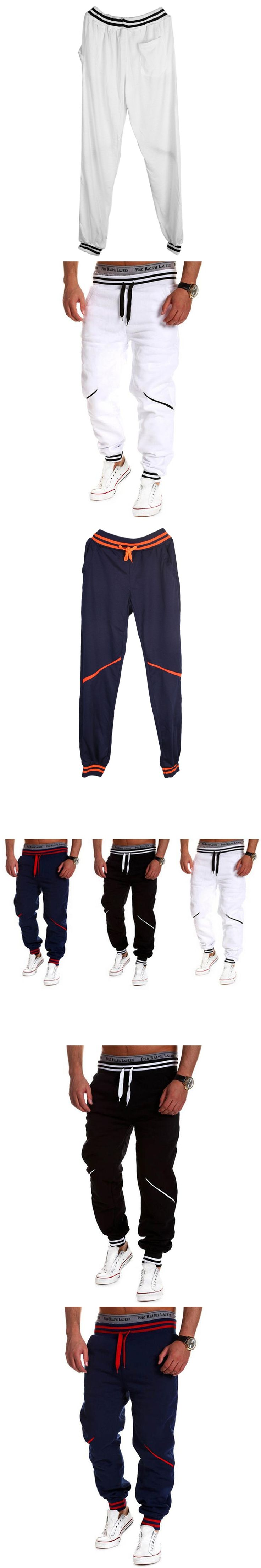 Brand Men Pants Hip Hop Harem Mens Joggers 2017 Brand Male Trousers Men Pants Casual Pants Sweatpants Jogger Black White Blue
