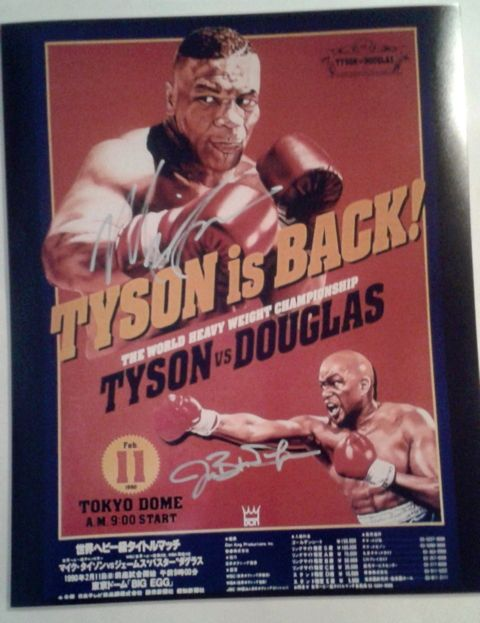 Mike Tyson & James Buster Douglas Signed 16x20 Photo