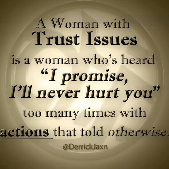 trust issues Trust issues when a person has trouble trusting others due to betrayal or other personal reasons, or are just lacking in trust due to a action or things the one on the reciving end are doing this can be with anyone, from relationships, to friendships or just plain strangers, trust issues cause a lot of issues in future events and can cause disappointment and missing out on important .