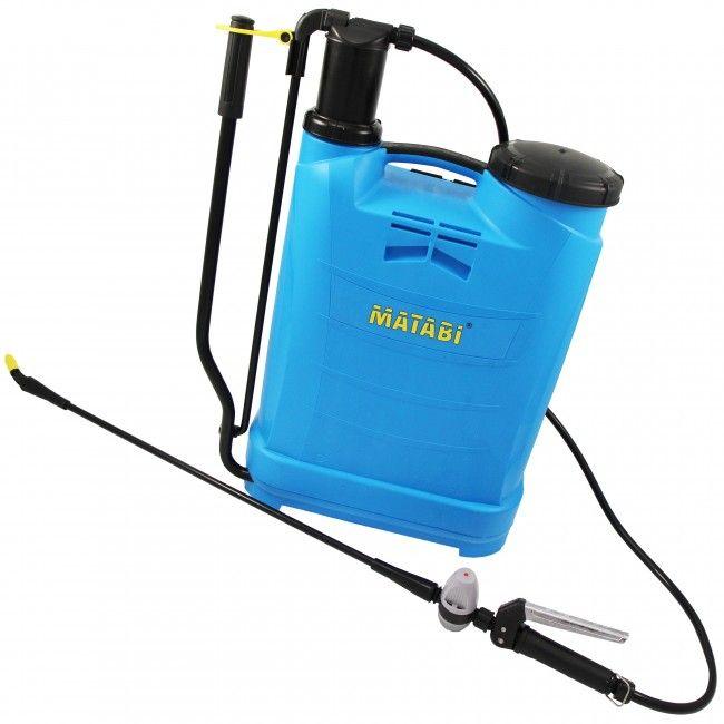Pulverizador agrícola de mochila a presión retenida. Tiene una capacidad total de 16L que permite la aplicación de insecticidas, fungicidas, herbicidas, agua...