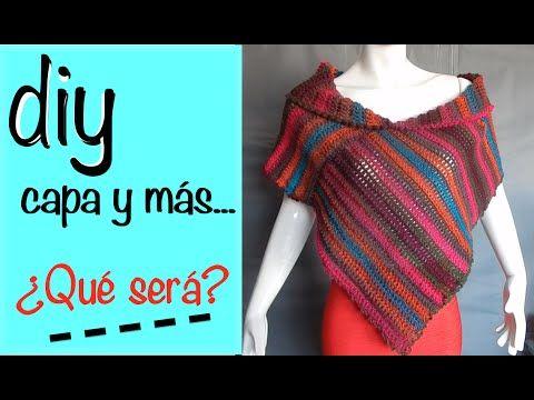 Capa Poncho Chaleco Bufanda Ganchillo, Crochet Diy Layer Up and more - YouTube