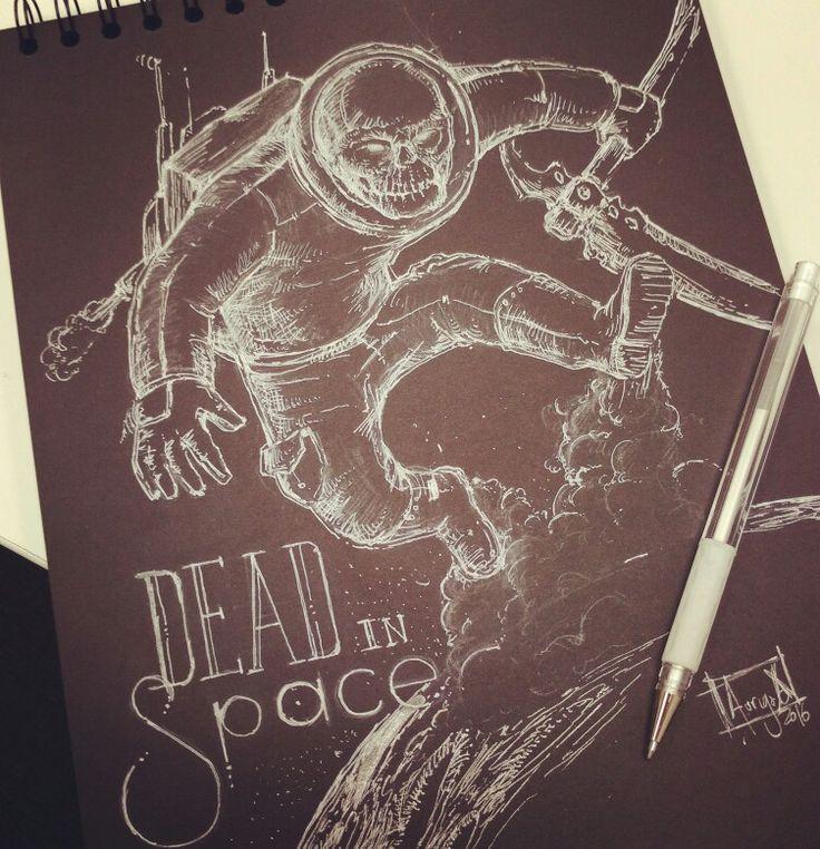 Sketch over black! Inktober 2016