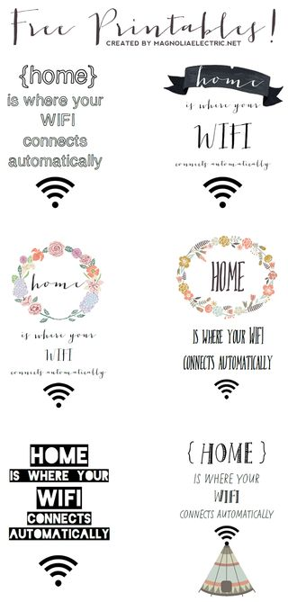 "Free ""home is where your wifi connects automatically"" Printa... 