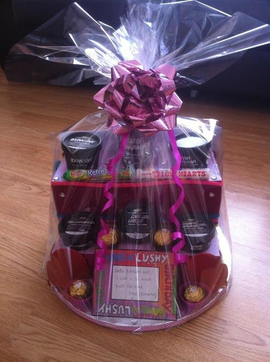 28 best wrap tup gift hampers images on pinterest christmas gift birthday hamper with lush products negle Images