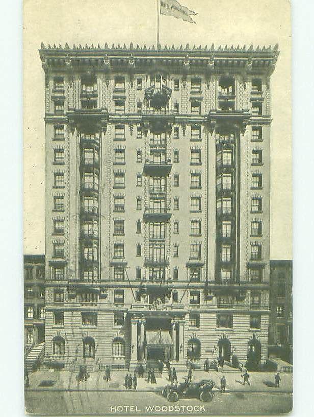 Damaged Divided Back WOODSTOCK HOTEL New York City NY 1908
