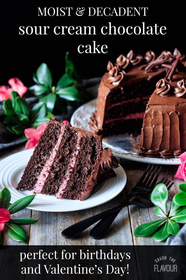 Sour Cream Chocolate Cake Recipe Sour Cream Chocolate Cake Sour Cream Cake Moist Cakes