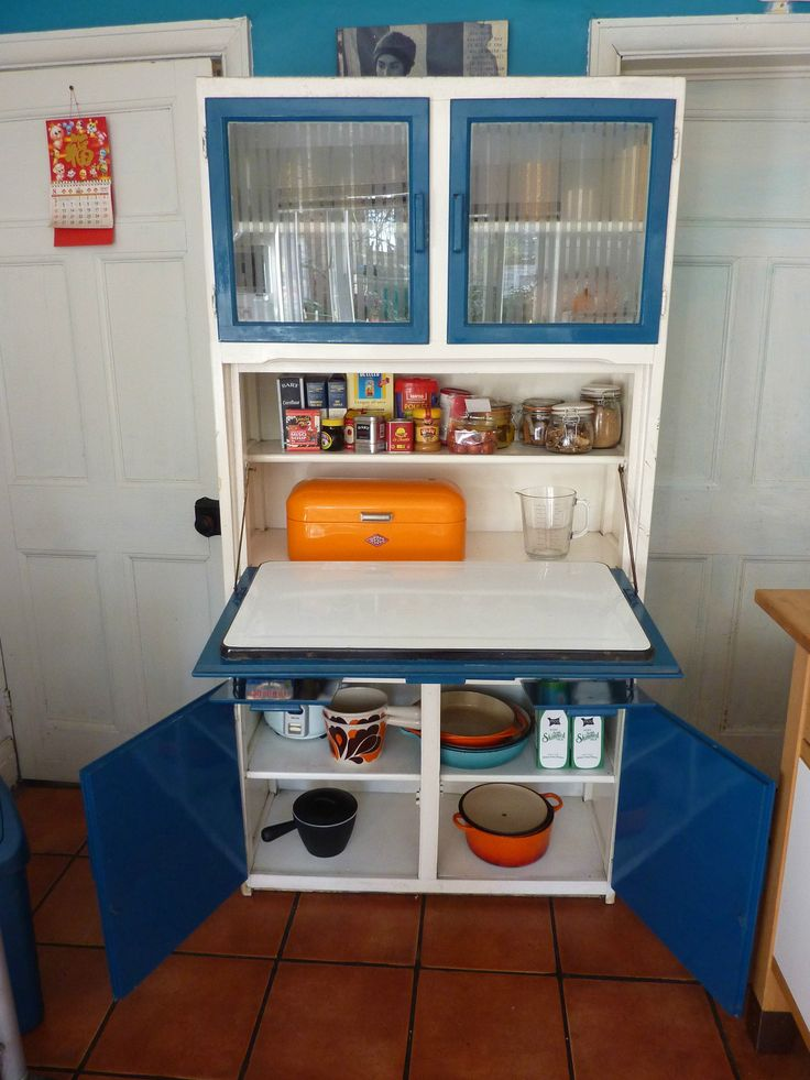 Retro vintage1950 39 s 1960 39 s kitchen larder cabinet cupboard for Kitchen cabinets ebay