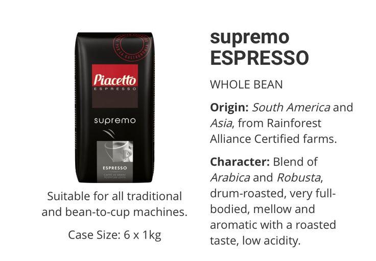 Piacetto Supremo Espresso www.solino.gr