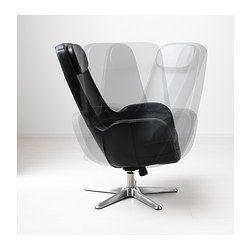 ARVIKA Drehsessel - Grann schwarz - IKEA