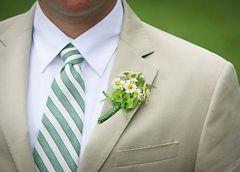 Lapela e buquê para casamento rústico chic