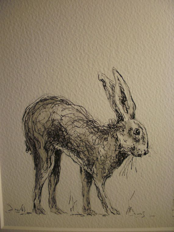 FREE POSTAGE Original pen and wash drawing of a by AnneOfManyArts