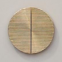 Pair-of-Luxury-GOLD-Door-Wardrobe-handles-knobs-Semi-Circular-Italian-made