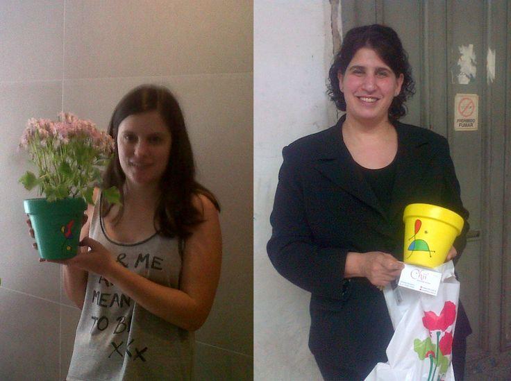 Foto de las ganadoras de los sorteos! Que disfruten de los premios!