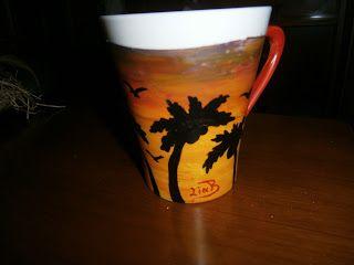 Lia B. Creations: Tropical sunset mug