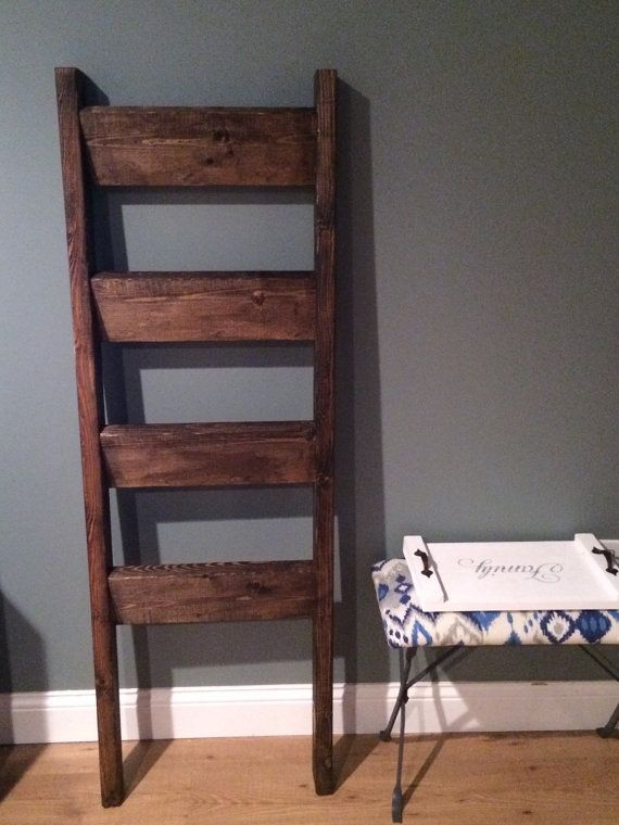 Blanket ladder quilt ladder by BuildingOurLife on Etsy