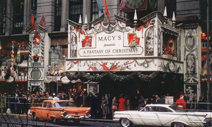 Macy's department store, New York City, Christmas 1959.