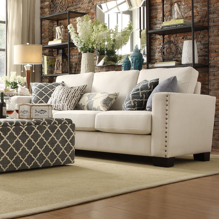 torrington linen nailhead track arm sofa by inspire q by Sectional Couch Room and Board Living Room Taupe Couch Colors