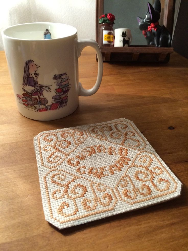 Custard Cream hand-stitched biscuit coaster by BobbieStitches on Etsy https://www.etsy.com/listing/254894980/custard-cream-hand-stitched-biscuit