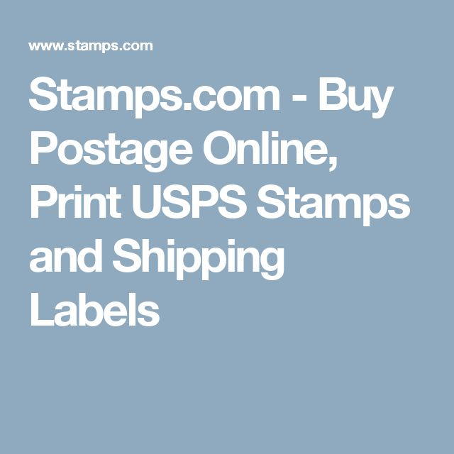 Stamps.com - Buy Postage Online, Print USPS Stamps and Shipping Labels