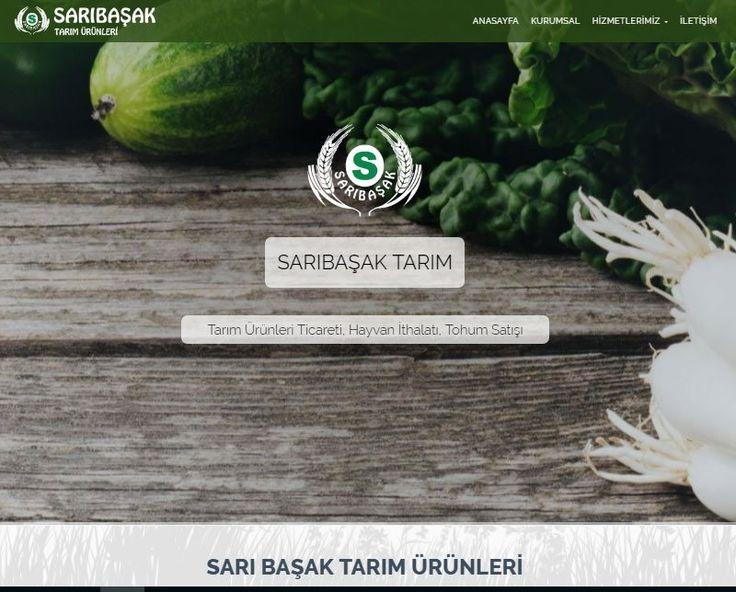 Sarı Başak Tarım için, mobil uyumlu web sitesi tasarım projesi tamamlanmıştır