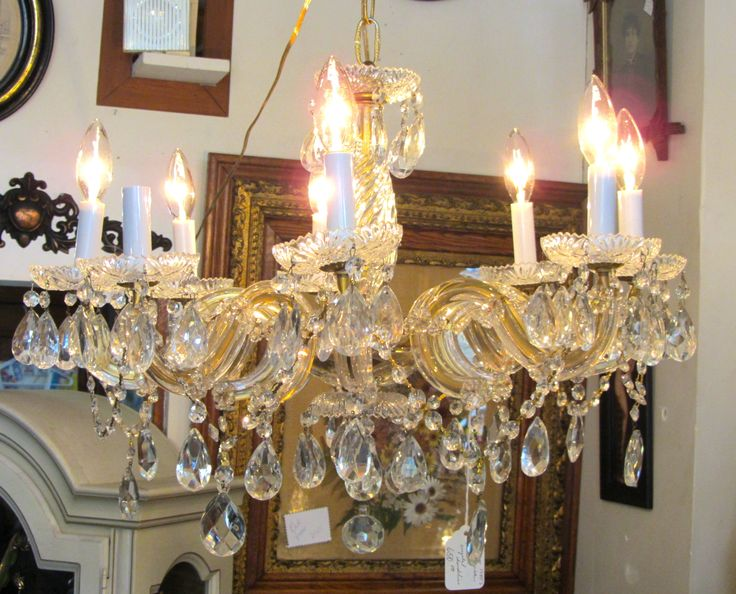 17 Best images about Antique Lighting – Crystal Chandelier Chain