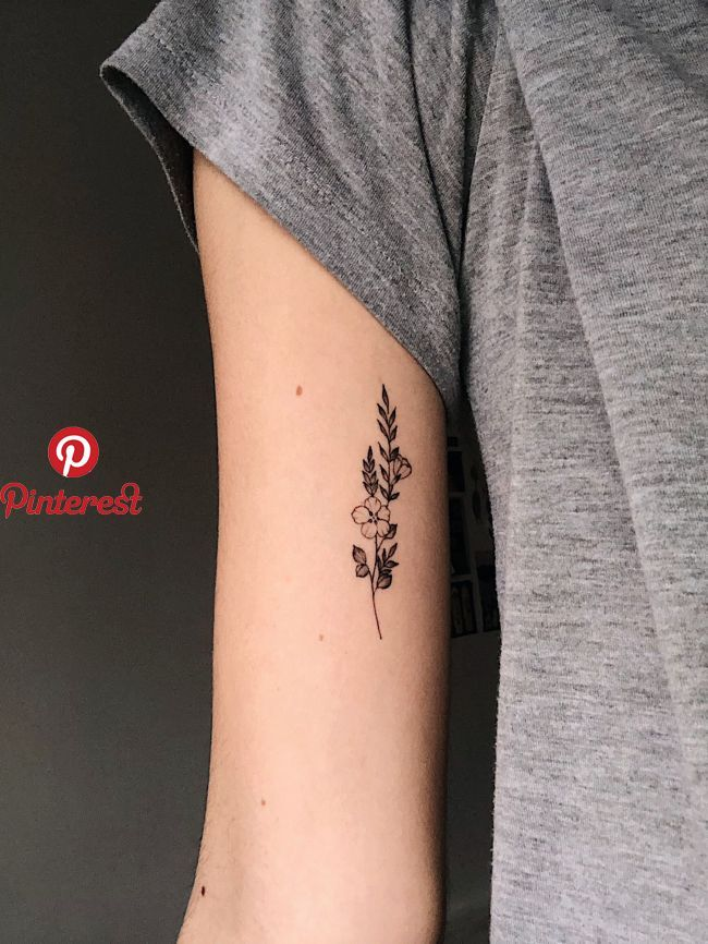 Small Tattoo Ideas Pinterest: Wildflowers In The Inner Arm By @dalmontt