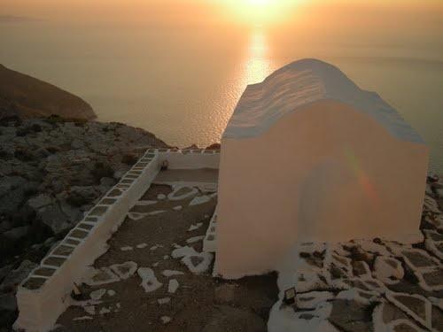 Chapel in Sikinos island, Greece
