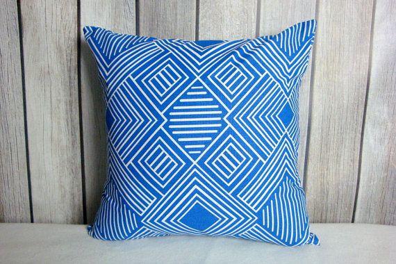 Cobalt Blue Pillow Covers. Royal Blue Pillows. Pillow Covers. Blue White Pillows. Accent Pillows