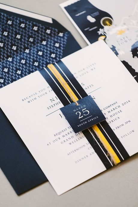 South African-inspired wedding invitations |Seven Swans Wedding Stationery