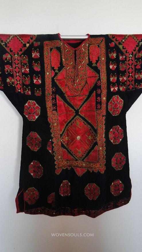 ATI-645 ANTIQUE SWAT EMBROIDERY COSTUME DRESS | WOVENSOULS ANTIQUE TEXTILES