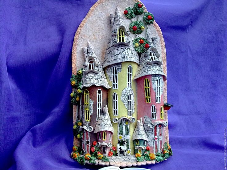 """Купить Бра-ночник """"Волшебный город"""". - бежевый, для дома и интерьера, сувениры и подарки, свадебный подарок"""