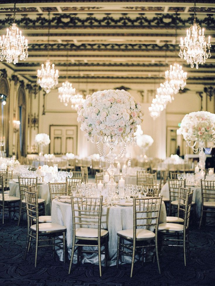 A Glam Gold And White Wedding In