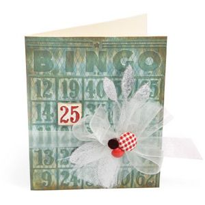 Embossed Bingo Card: Bingo Cards, Christmas Cards, Embossing Bingo, Sizzix Embossing, Embossed Bingo