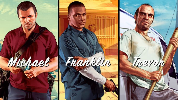 Here are the 3 most important characters in the game, Micheal, Franklin and Trevor. They are the good guys looking for the bad guys. If you are interested, get GTA V Crack to play GTA V. You can always see them in the game. Have some fun in your leisure time.