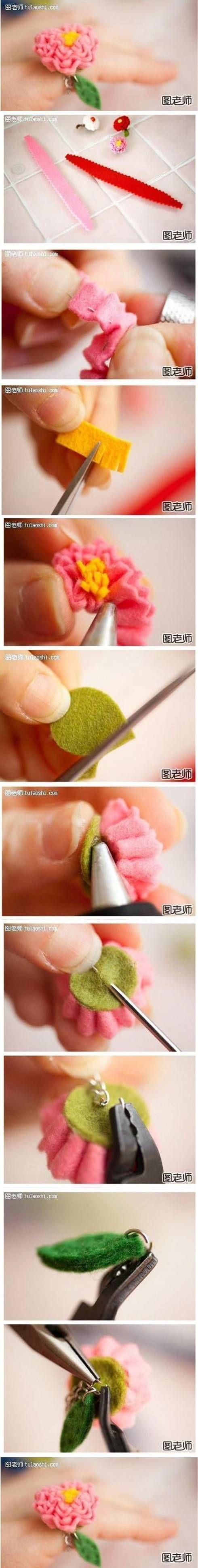 DIY Romantic Flower Ring DIY Projects