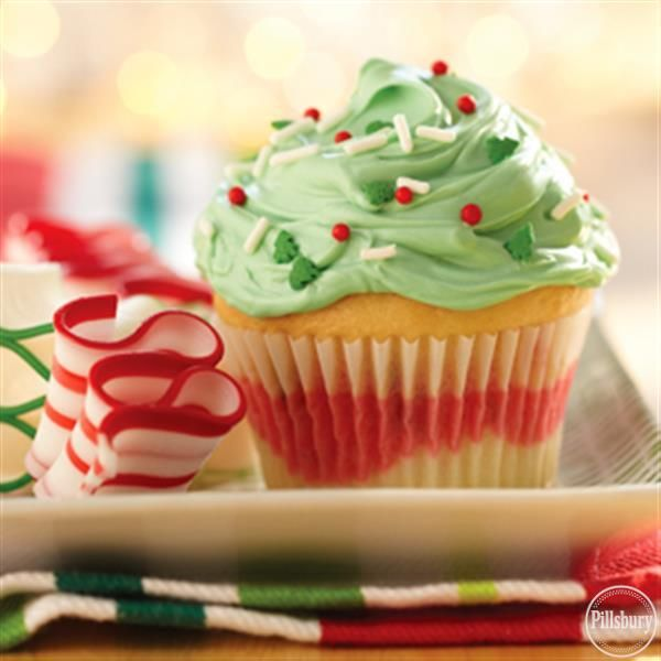 Funfetti® Color Me Holiday Cupcakes from Pillsbury®