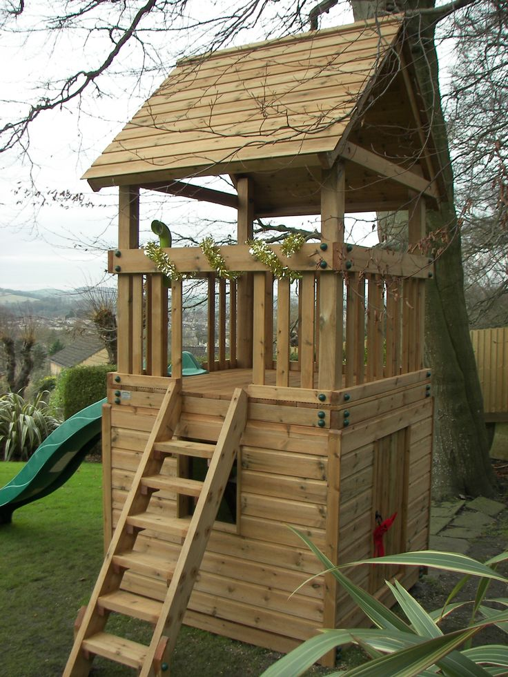 This play tower installed as a surprise Christmas present with the intention to add on to it later as the little boy gets older.