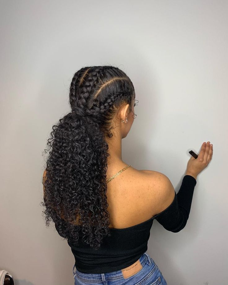 Natural Hairstyles With Extensions Hairstyles In 2020 Cornrow Hairstyles Weave Hairstyles Braided Braided Hairstyles