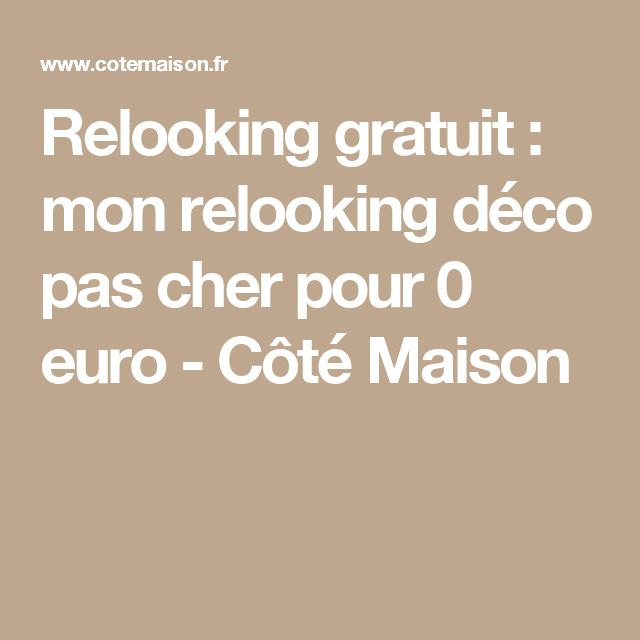 Relooking pas cher cheap gallery of relooking pas cher et for Relooking pas cher