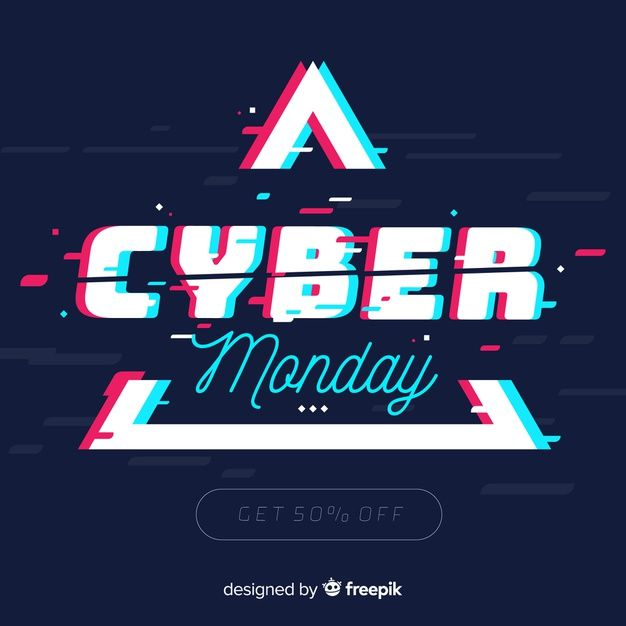 Download Cyber Monday Concept With Flat Design Background For Free